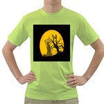 Death Haloween Background Card Green T-Shirt Front