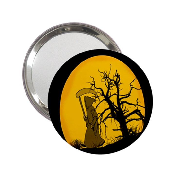 Death Haloween Background Card 2.25  Handbag Mirrors