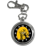 Death Haloween Background Card Key Chain Watches Front