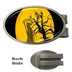 Death Haloween Background Card Money Clips (Oval)  Front