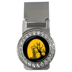 Death Haloween Background Card Money Clips (CZ)  Front