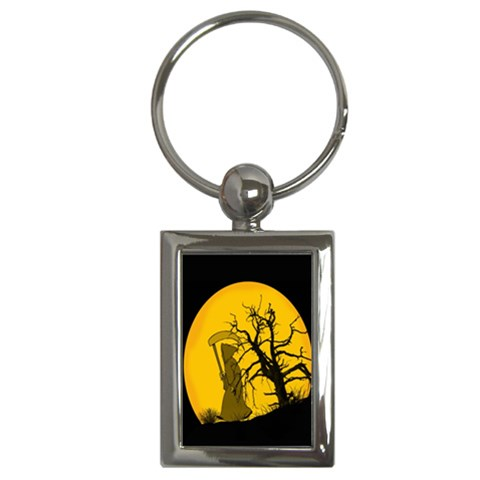 Death Haloween Background Card Key Chains (Rectangle)