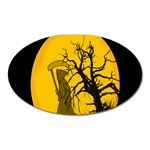 Death Haloween Background Card Oval Magnet Front