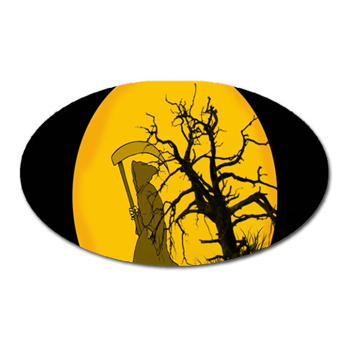 Death Haloween Background Card Oval Magnet