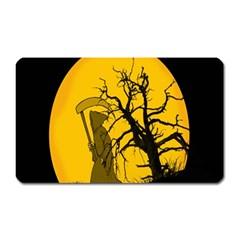 Death Haloween Background Card Magnet (Rectangular)