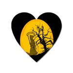 Death Haloween Background Card Heart Magnet Front