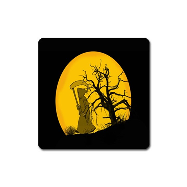 Death Haloween Background Card Square Magnet