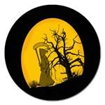 Death Haloween Background Card Magnet 5  (Round) Front