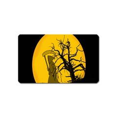 Death Haloween Background Card Magnet (Name Card)