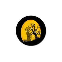 Death Haloween Background Card Golf Ball Marker (4 pack)