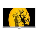 Death Haloween Background Card Business Card Holders Front