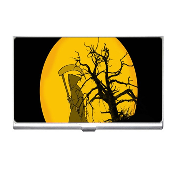 Death Haloween Background Card Business Card Holders