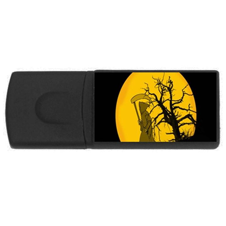 Death Haloween Background Card USB Flash Drive Rectangular (1 GB)