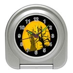 Death Haloween Background Card Travel Alarm Clocks Front