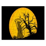Death Haloween Background Card Rectangular Jigsaw Puzzl Front