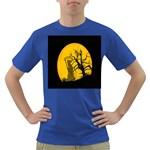 Death Haloween Background Card Dark T-Shirt Front