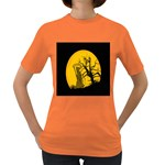Death Haloween Background Card Women s Dark T-Shirt Front