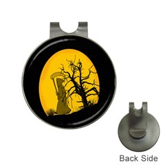 Death Haloween Background Card Hat Clips with Golf Markers