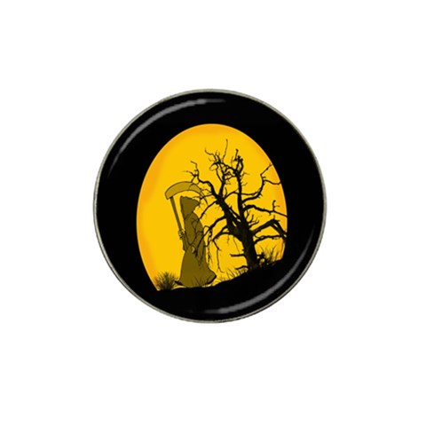 Death Haloween Background Card Hat Clip Ball Marker (4 pack)