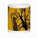 Death Haloween Background Card Night Luminous Mugs Center