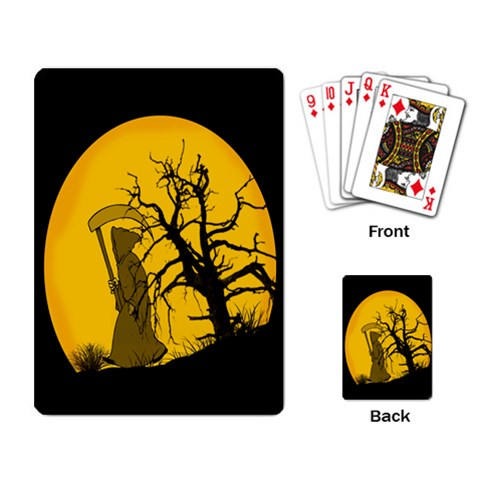 Death Haloween Background Card Playing Card