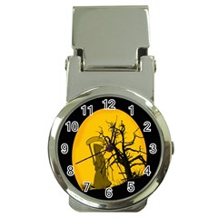 Death Haloween Background Card Money Clip Watches