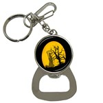 Death Haloween Background Card Bottle Opener Key Chains Front