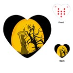 Death Haloween Background Card Playing Cards (Heart)  Front