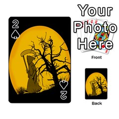 Death Haloween Background Card Playing Cards 54 Designs