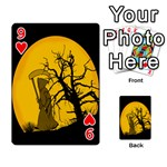 Death Haloween Background Card Playing Cards 54 Designs  Front - Heart9