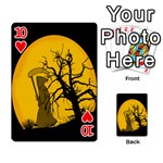 Death Haloween Background Card Playing Cards 54 Designs  Front - Heart10