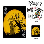Death Haloween Background Card Playing Cards 54 Designs  Front - Club3