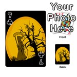 Death Haloween Background Card Playing Cards 54 Designs  Front - Club7