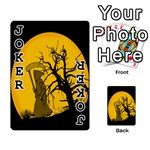 Death Haloween Background Card Playing Cards 54 Designs  Front - Joker1