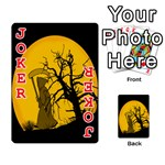 Death Haloween Background Card Playing Cards 54 Designs  Front - Joker2