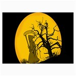 Death Haloween Background Card Collage Prints 18 x12 Print - 1