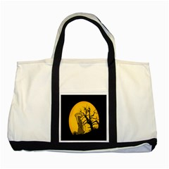 Death Haloween Background Card Two Tone Tote Bag