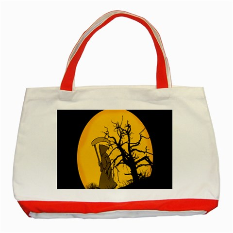 Death Haloween Background Card Classic Tote Bag (Red)