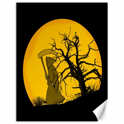 Death Haloween Background Card Canvas 12  x 16