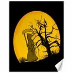 Death Haloween Background Card Canvas 12  x 16   16 x12 Canvas - 1