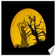 Death Haloween Background Card Canvas 16  x 16
