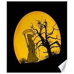 Death Haloween Background Card Canvas 20  x 24
