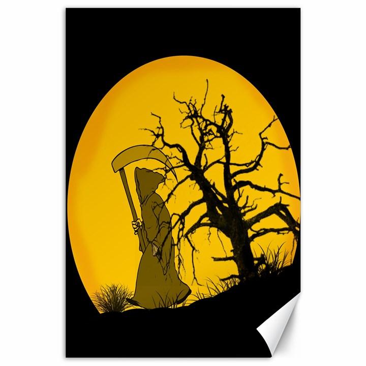 Death Haloween Background Card Canvas 24  x 36