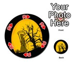Death Haloween Background Card Playing Cards 54 (Round)  Front - Heart10
