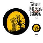 Death Haloween Background Card Playing Cards 54 (Round)  Back