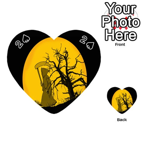 Death Haloween Background Card Playing Cards 54 (Heart)