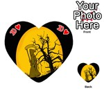 Death Haloween Background Card Playing Cards 54 (Heart)  Front - Heart10