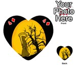 Death Haloween Background Card Playing Cards 54 (Heart)  Front - Diamond4