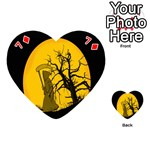 Death Haloween Background Card Playing Cards 54 (Heart)  Front - Diamond7