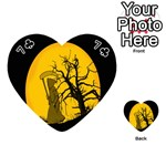 Death Haloween Background Card Playing Cards 54 (Heart)  Front - Club7